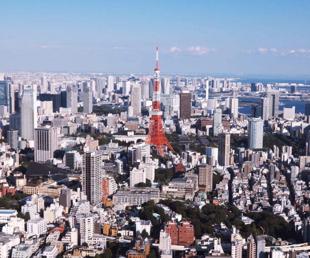 港区 街並み 俯瞰図 東京タワー