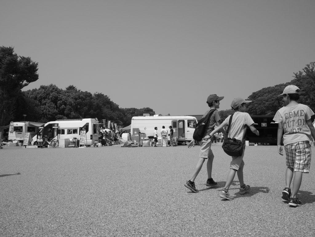 上野公園 少年