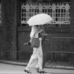 上野 和服姿 日傘 人物