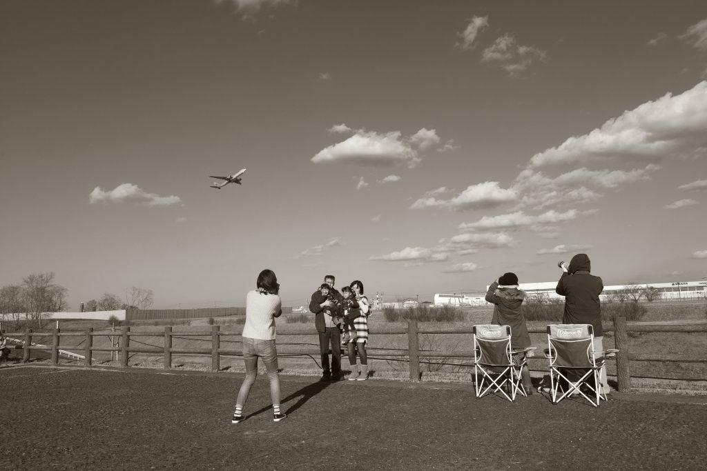 成田空港 飛行場 記念撮影 家族 飛行機撮影