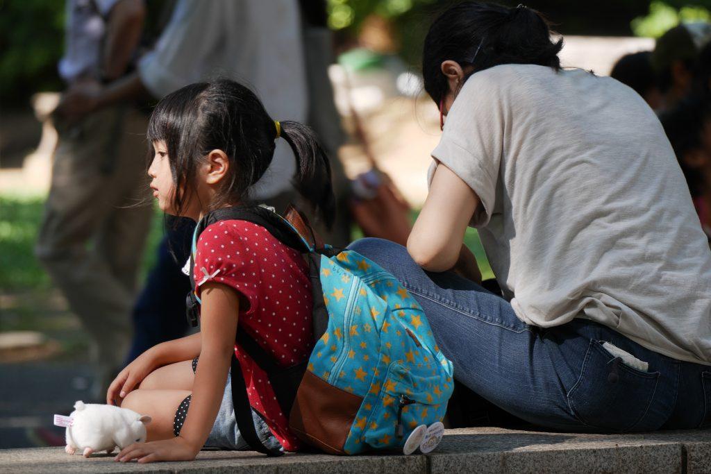 上野公園 女の子