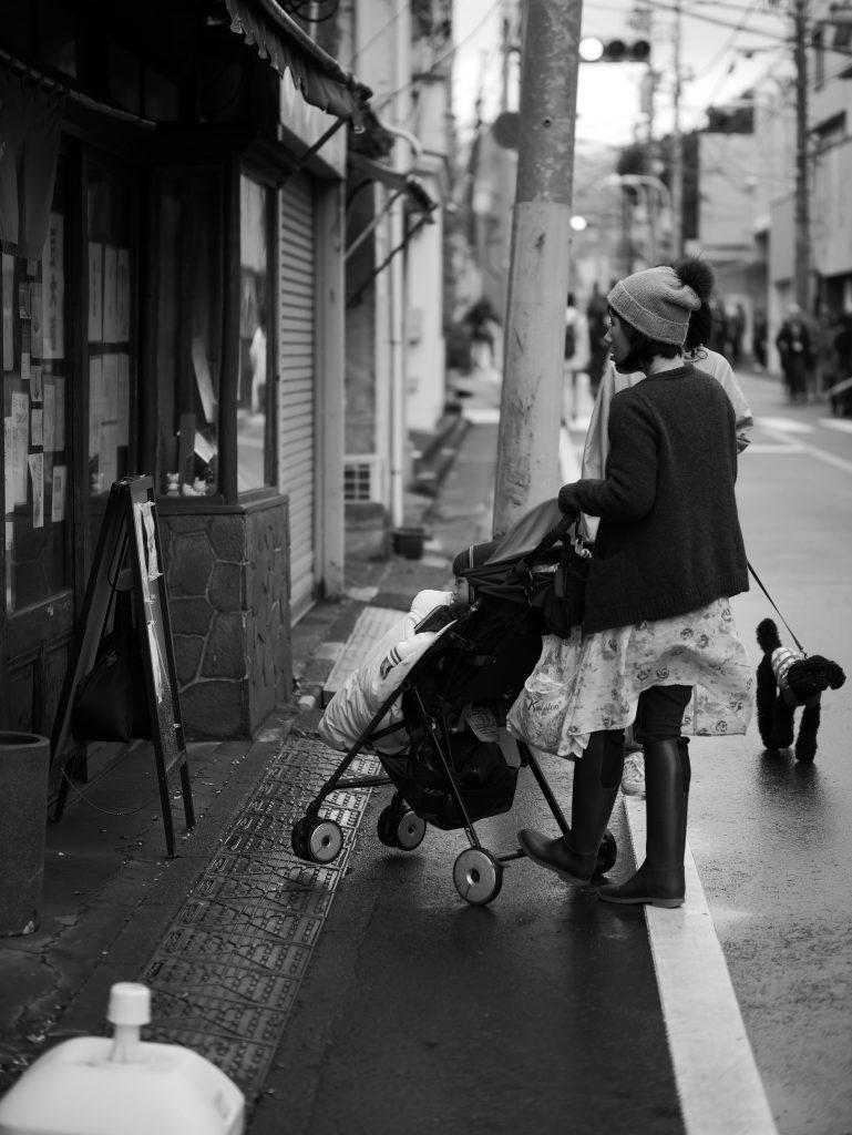 上野桜木 母子 乳母車 ベビーカー
