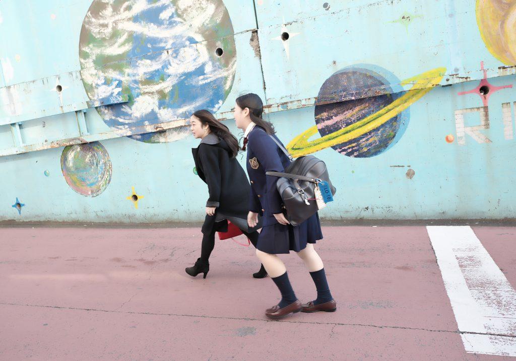 中野 人物 壁画 壁面アート 惑星