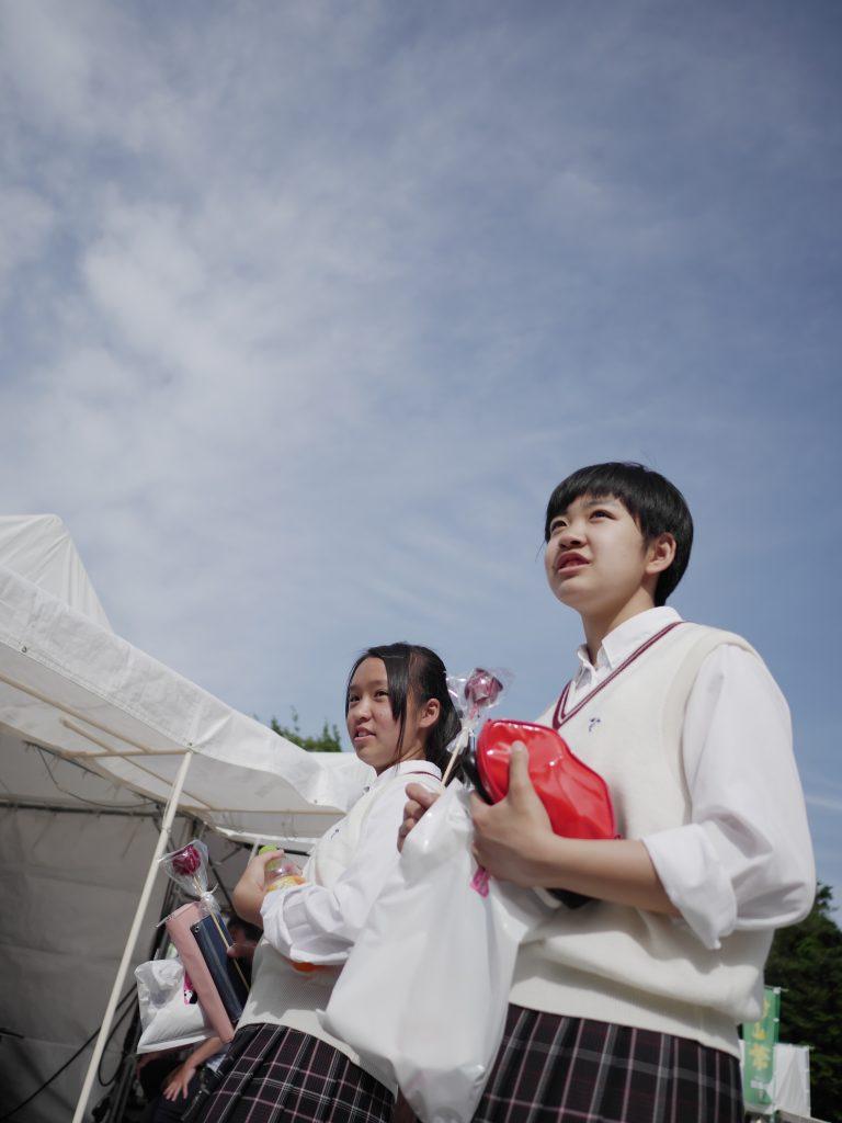上野公園 女学生