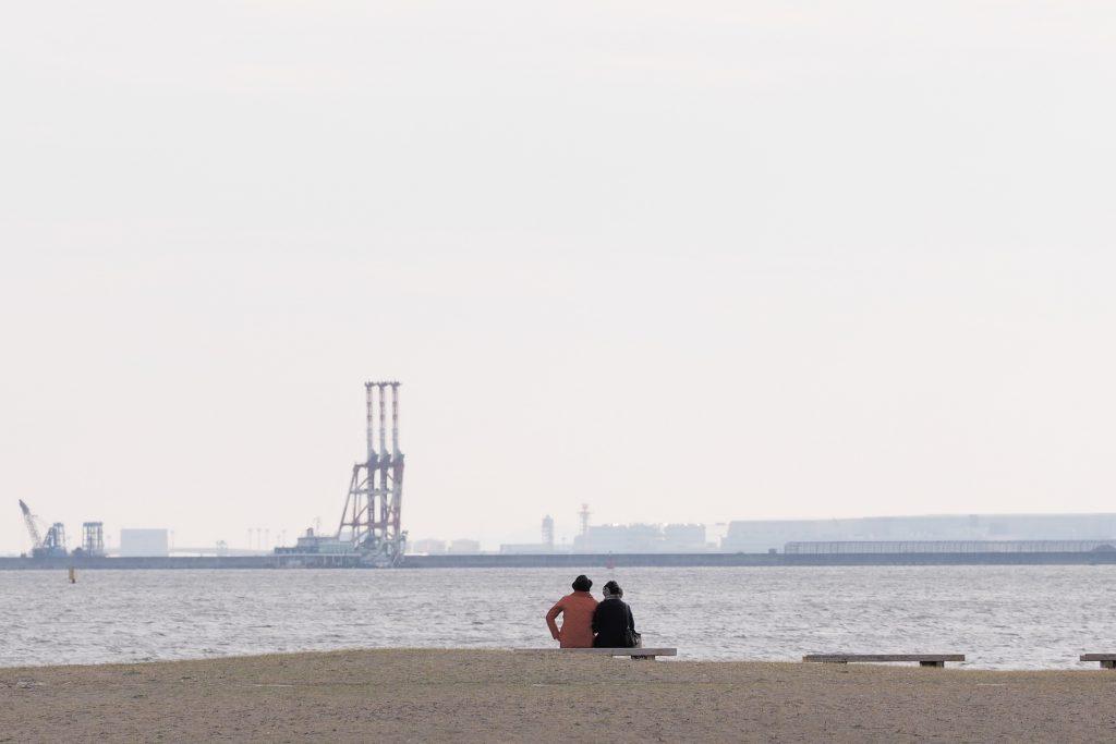 風景 人物 臨海公園