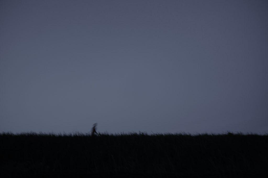 行人 旅人 黄昏