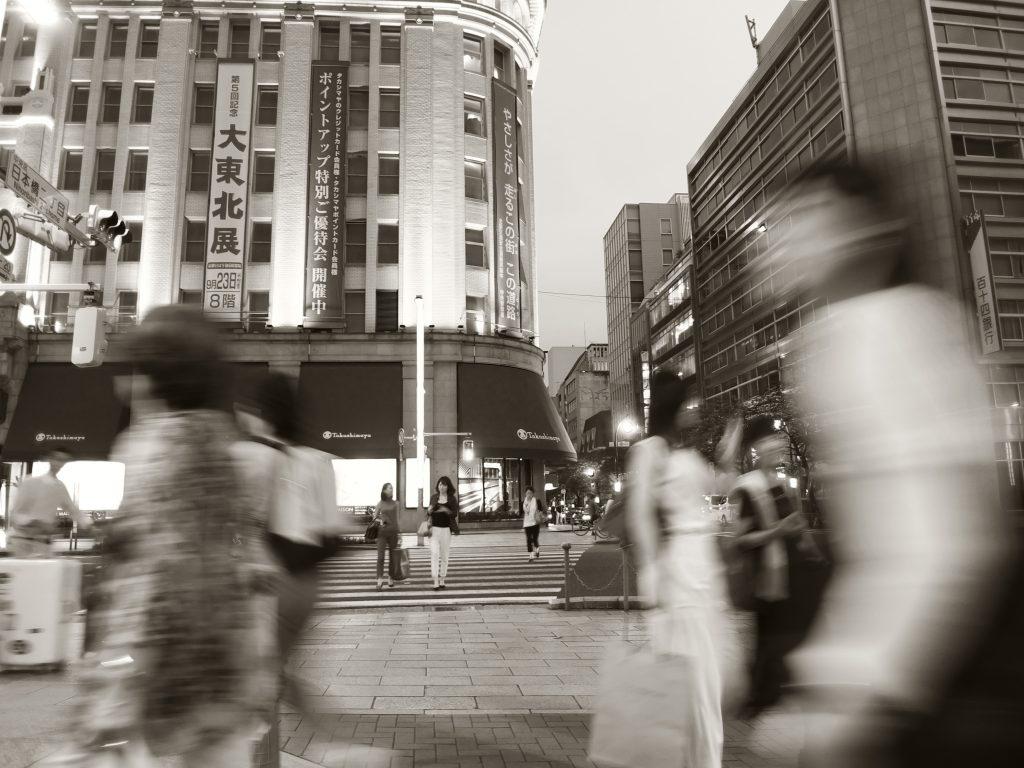 日本橋 夕暮れ時