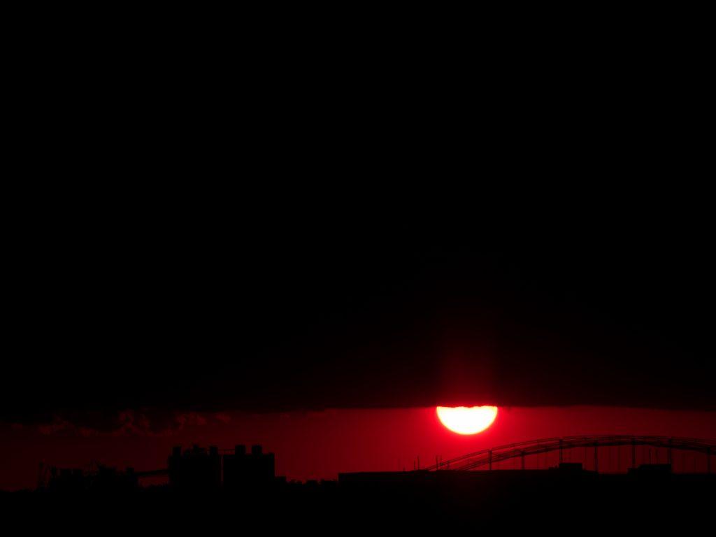 夕日 落日 落陽 日没 太陽