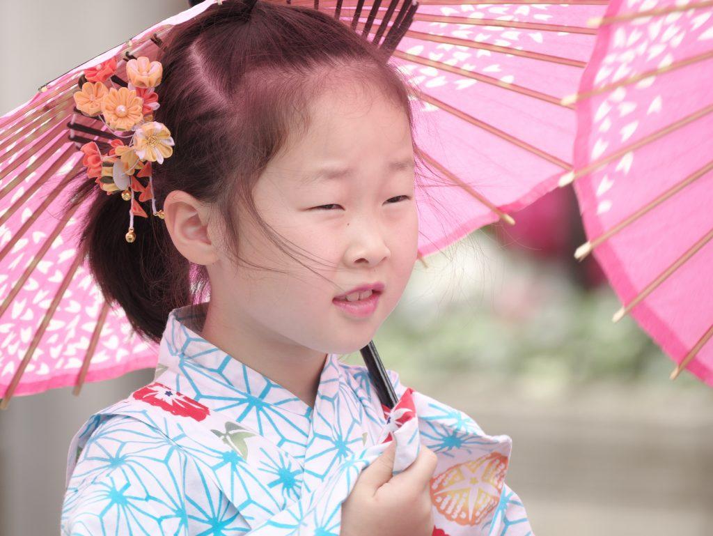 和服 着物 女の子 日傘