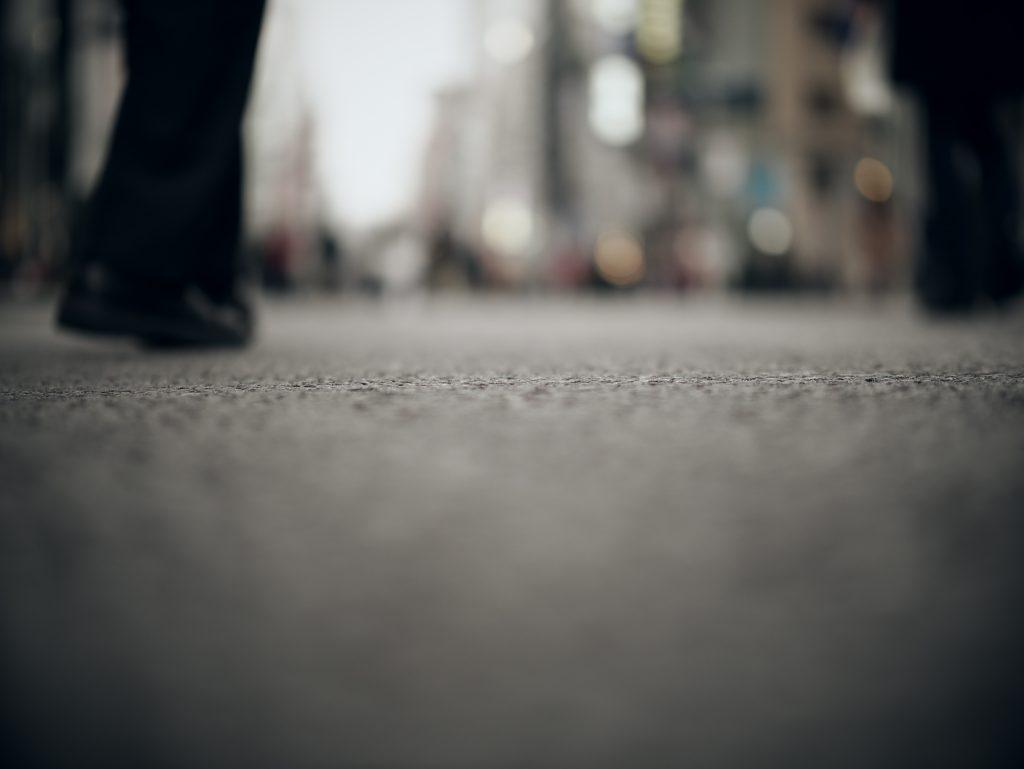被写界震度 歩道 歩行者天国